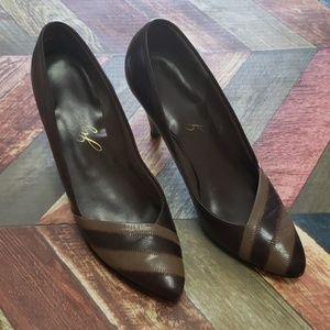 Joyce Leslie Shoes - Joyce Brown Leather Heels